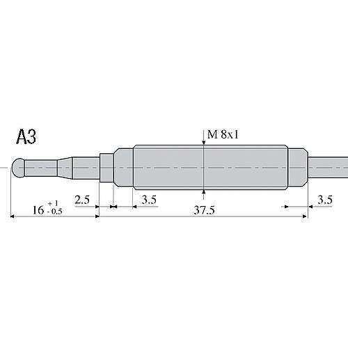 0.200.050 Elément Thermo 1500 MM Tête A3 M8 X 1 Filetage M 8 Réf