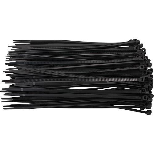 colliers de fixation pour c bles lectriques standard noir. Black Bedroom Furniture Sets. Home Design Ideas