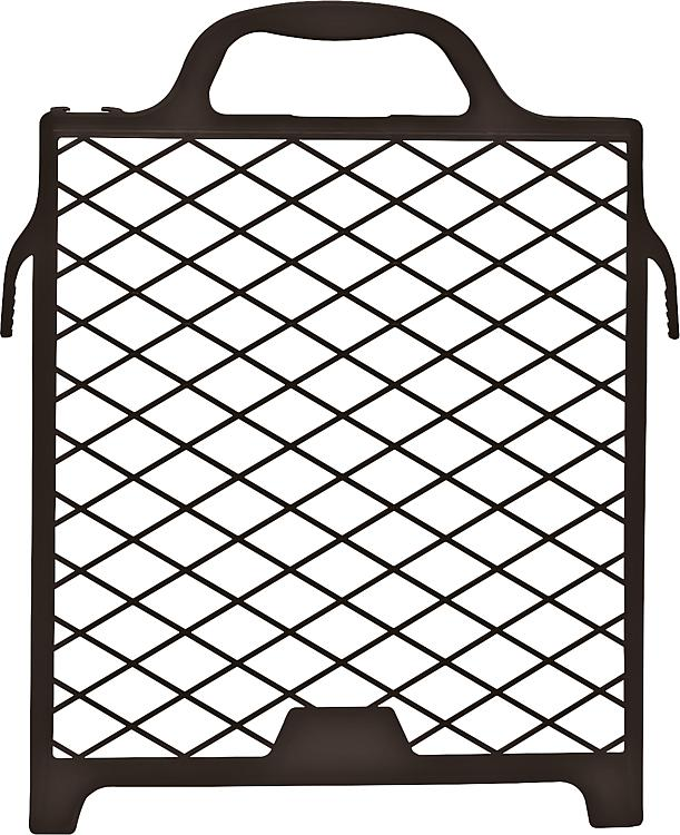 Grille egouttoir 22 x 25 cm plastique noir 8082821