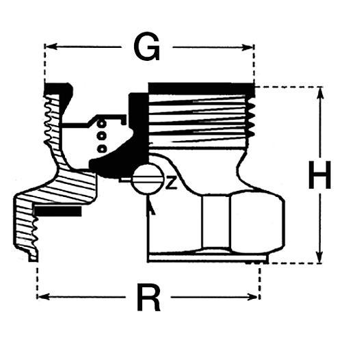 clapet anti thermosiphon dn25xdn40 avec passage d 39 air. Black Bedroom Furniture Sets. Home Design Ideas