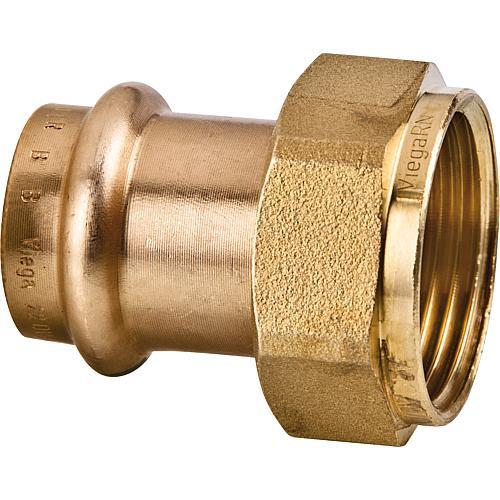 Viega raccord sanpress contour v 54x2 1 4 en bronze joint plat - Raccord cuivre a sertir ...