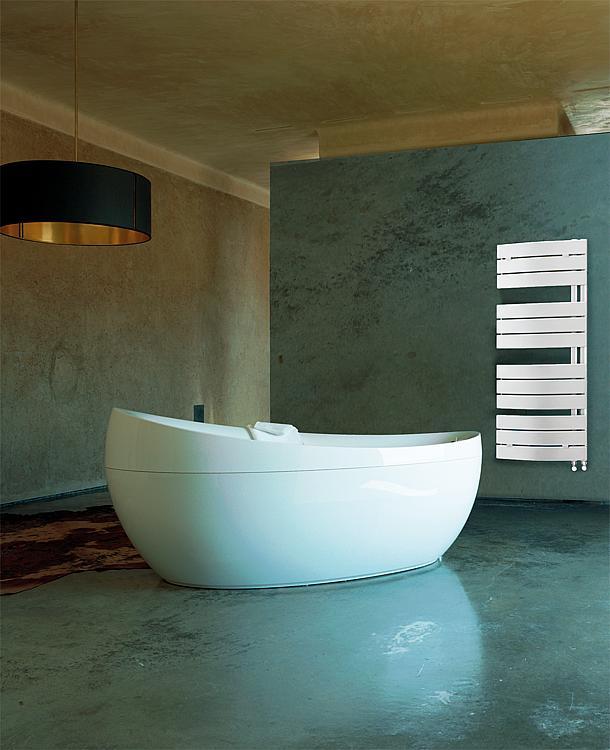 chauffe serviettes et salle de bain pieve blanc