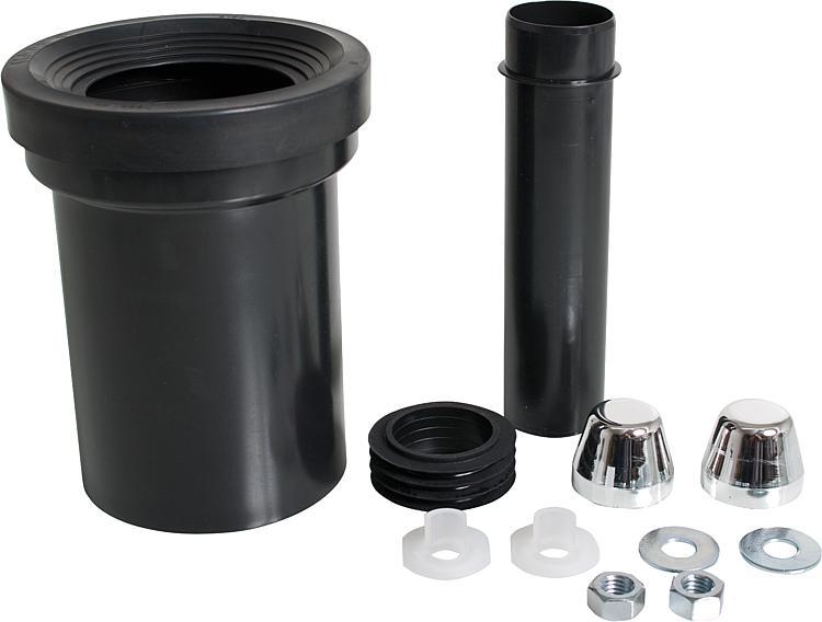 garniture de raccord pour wc avec tuyau d 39 ecoulement 110 mm et bouchon blanc. Black Bedroom Furniture Sets. Home Design Ideas