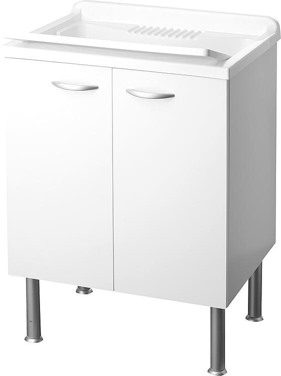 lave main avec meuble 2 portes lxlxh 600x500x850mm. Black Bedroom Furniture Sets. Home Design Ideas