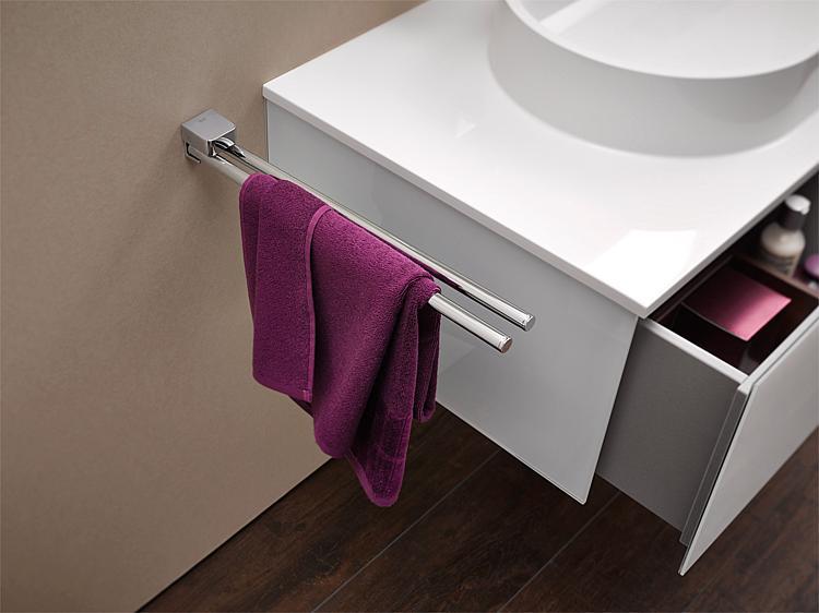 Porte serviettes trend deux bras for Salle de bain xxs