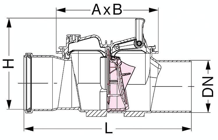soupape anti-siphon avec installation de contrôle de débit
