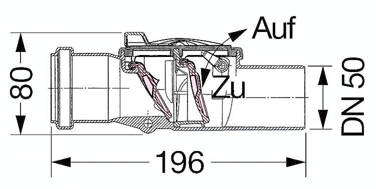Clapet anti retour avec siphon int gr dn 50 dn 70 - Clapet anti siphon fonctionnement ...