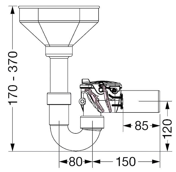 Clapet anti retour double staufix siphon dn 50 - Clapet anti siphon fonctionnement ...
