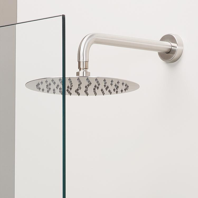 bras de douche mural pour t te de douche rond. Black Bedroom Furniture Sets. Home Design Ideas