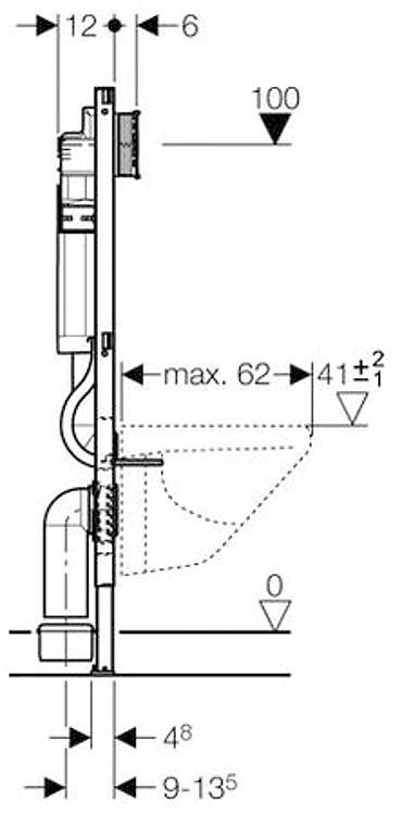 geberit duofix wc mural 112 cm avec reservoir encastre up320. Black Bedroom Furniture Sets. Home Design Ideas