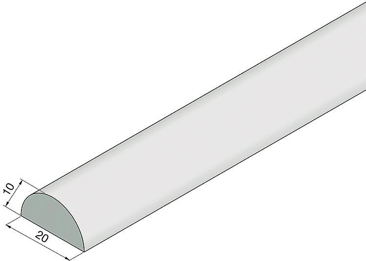 Barre de protection acrylique PMMA r/ésistant aux chocs 5 x 10 x 1000 mm acrylique Profil/é de protection solaire pour douche - Joint transparent anti-/éclaboussures pour douche en verre.