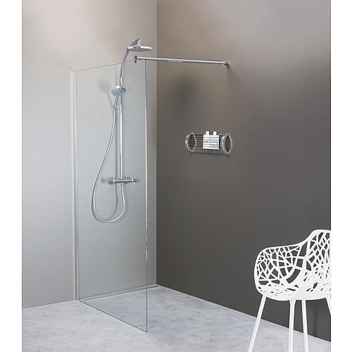 paroi de douche en verre forme arrondie walk in 1380x200x8 mm. Black Bedroom Furniture Sets. Home Design Ideas