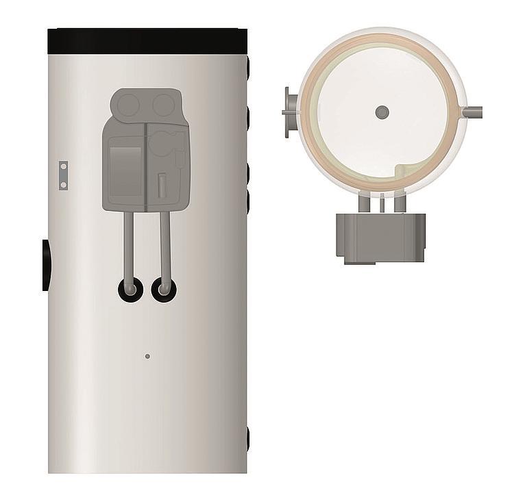 ballon d eau chaude sanitaire solaire ev tws 2w compact. Black Bedroom Furniture Sets. Home Design Ideas
