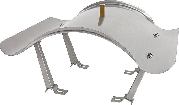 chapeau de chemin e napoleon inox 1mm pour chemin e de 65x65mm avec fixation pieds pointe laiton. Black Bedroom Furniture Sets. Home Design Ideas